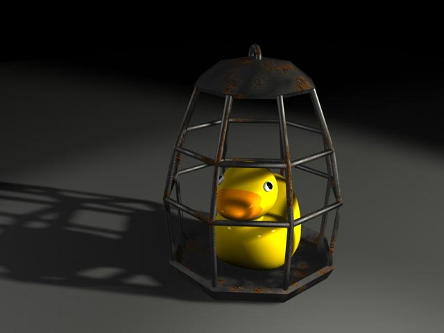 Caged ducky