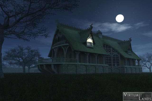 Elvish Inn at night