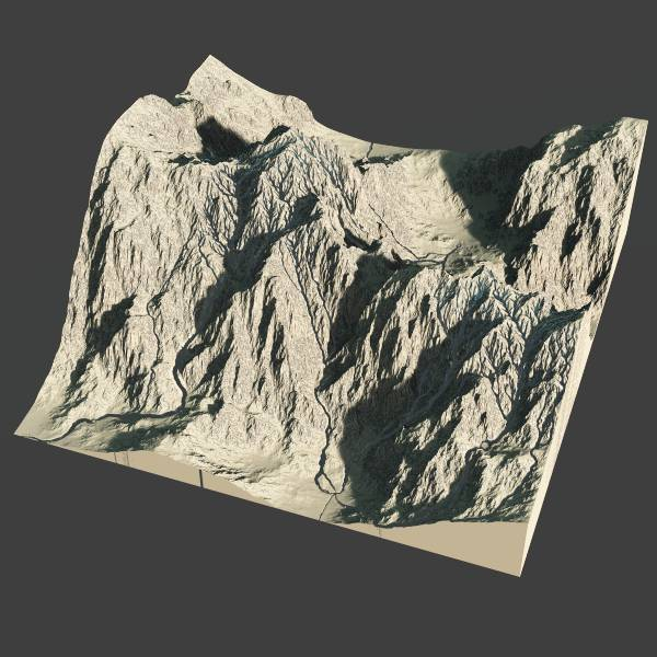 Alpine terrain - 3d heightfield